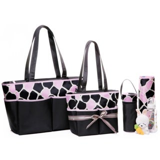 Colorland Happy Cow Pink Tote Bag Set