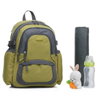 Colorland Green Functional Backpack Diaper Bag