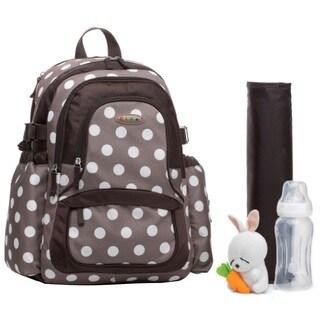 Colorland Khaki Polka Functional Backpack Diaper Bag
