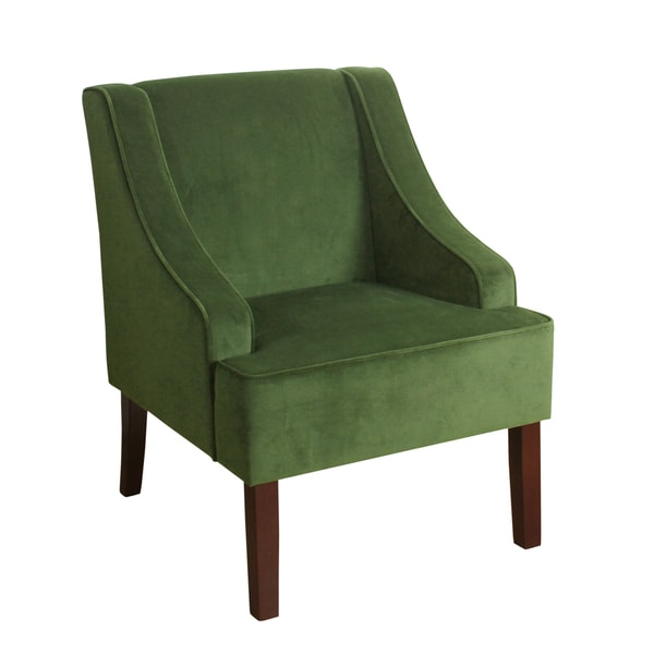 Homepop Velvet Swoop Arm Accent Chair Free Shipping