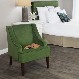 HomePop Velvet Swoop Arm Accent Chair