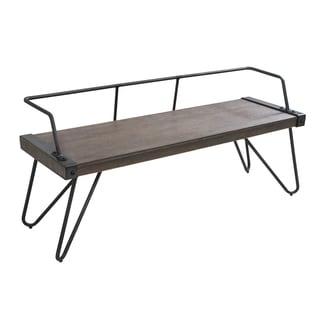 Carbon Loft Salk Industrial Dining / Entryway Bench