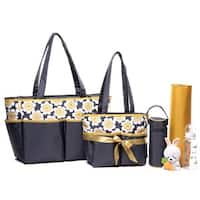 Colorland Winter Flower Yellow Tote Bag Set