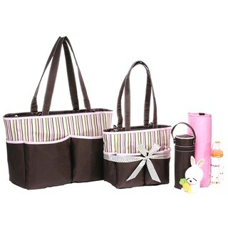 Colorland Middle Stripes Pink Tote Bag Set