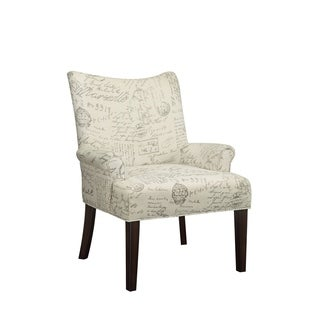 French Script Accent Chair