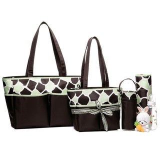 Colorland Happy Cow Green Tote Bag Set
