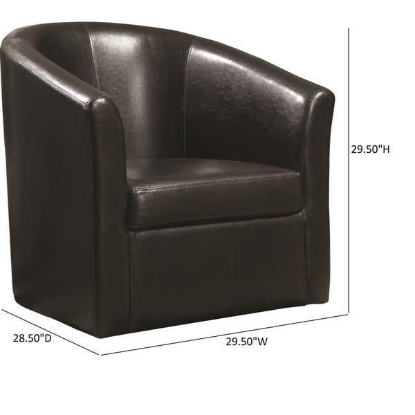 Terrific Shop Coaster Company Vinyl Swivel Accent Chair 28 50 X Ncnpc Chair Design For Home Ncnpcorg
