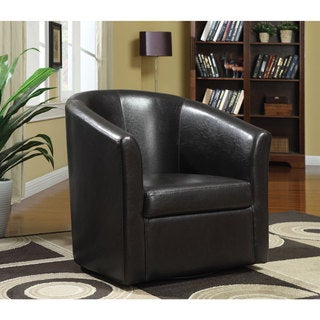 Vinyl Swivel Accent Chair