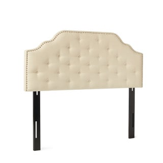 Silas Adjustable Full/ Queen Studded Fabric Headboard by Christopher Knight Home (3 options available)