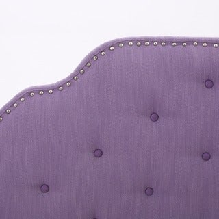 Silas Adjustable Full/ Queen Studded Fabric Headboard by Christopher Knight Home