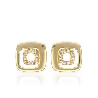 Vida 14k Yellow Gold Diamond Accent Earrings (H-I, SI2-SI3)