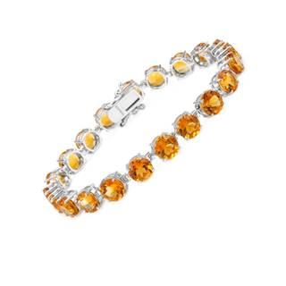 Magnolia Sterling Silver 27 1/2ct TW Citrine Bracelet
