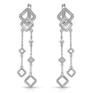 Vida 14k White Gold 1/5ct TW Color G-H Diamond Earrings