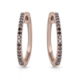 Nevada Silver Co. Rose Gold over Silver 1/4ct TW Diamond Earrings (I1-I2)