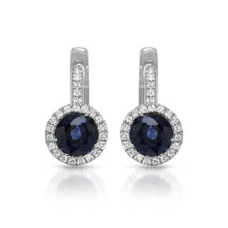 Vida 14k Gold 1 1/4ct TW Sapphire Earrings