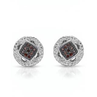 Nevada Silver Co. Sterling Silver Diamond Earrings