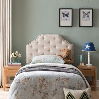 Silas Twin Studded Fabric Kid Headboard by Christopher Knight Home|https://ak1.ostkcdn.com/images/products/12185258/P19035029.jpg?impolicy=medium