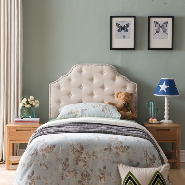 Silas Twin Studded Fabric Kid Headboard by Christopher Knight Home. Opens flyout.