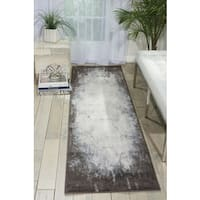 "Nourison Maxell Ivory/Grey Area Rug (2'2 x 7'6) - 2'2""x7'6"""