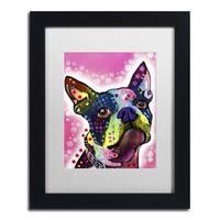 Dean Russo 'Boston Terrier' Matted Framed Art