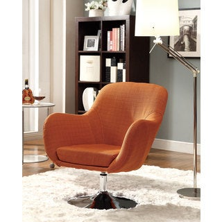 Coaster Company Orange Swivel Accent Chair