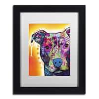 Dean Russo 'Heart U Pit Bull' Matted Framed Art