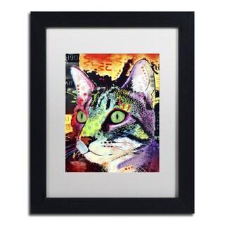 Dean Russo 'Curiosity Cat' Matted Framed Art
