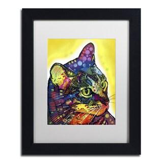 Dean Russo 'Confident Cat' Matted Framed Art