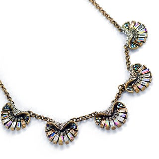 Sweet Romance Art Deco Aurora Scallop Shell Ocean Necklace