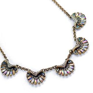 Sweet Romance Art Deco Aurora Scallop Shell Ocean Necklace