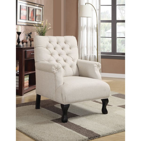 Coaster Company Home Furnishings Casual Accent Chair (Espresso/White)
