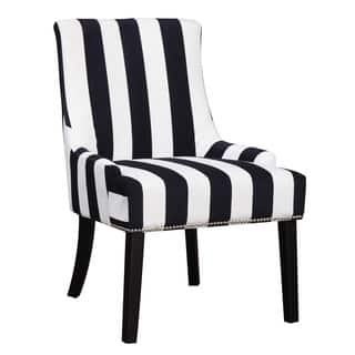 striped living room chairs. Coaster Company Black and White Striped Accent Chair Living Room Chairs For Less  Overstock com