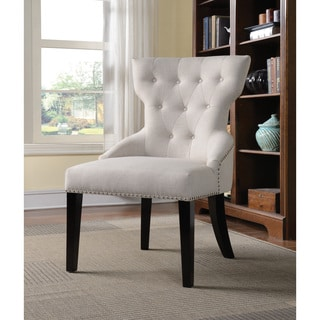 Coaster Company White Tufted Accent Chair