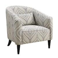 Coaster Company Trellis Blue and White Barrel Chair
