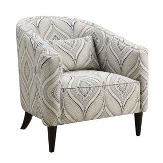 Coaster Company Trellis Blue and White Barrel Chair