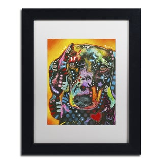 Dean Russo 'Brilliant Dachshund' Matted Framed Art