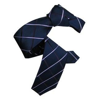 Dmitry Men's Navy Italian Patterned Silk Tie