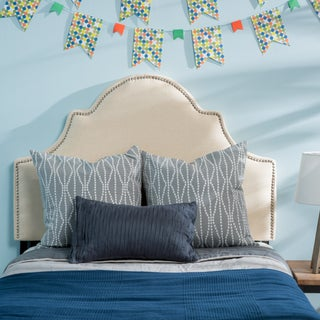 Bianca Twin Studded Fabric Kid Headboard by Christopher Knight Home (Option: Ivory)