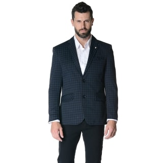 Men's Slim-fit Casual Plaid Sport Jacket