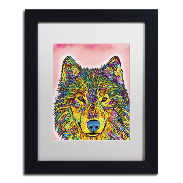 Dean Russo 'Wolf' Matted Framed Art