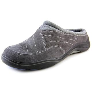 Grasshoppers Women's 'Prospect Clog' Grey Regular Suede Casual Shoes