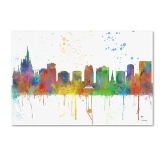 Marlene Watson 'Orlando Florida Skyline Mclr-1' Canvas Art