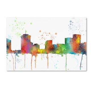 Marlene Watson 'New Orleans Louisiana Skyline Mclr-1' Canvas Art