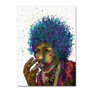 Marlene Watson 'Jimi Hendrix' Canvas Art