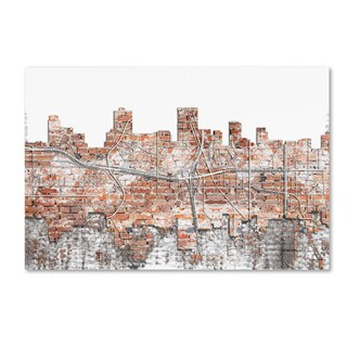Marlene Watson 'Anchorage Alaska Skyline Brick' Canvas Art