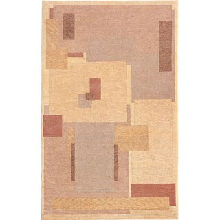 Abbyson Living Hand-knotted 'Endeavors' Brown Wool Rug (4' Round)