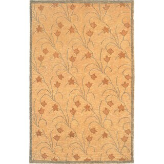 Abbyson Living Hand-knotted 'Oceans of Time' Ivory Wool Rug (5' Round)