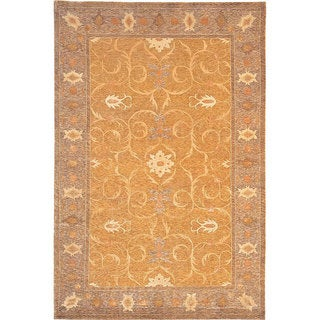 Abbyson Living Hand-knotted 'Heiress' Himalayan Sheep Wool and Silk Rug (6' x 9')