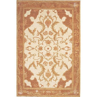 Abbyson Living Hand-knotted 'Napa' Himalayan Sheep Wool and Silk Rug (6' x 9')