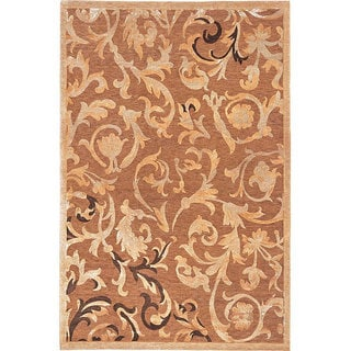Abbyson Living Hand-knotted 'Charmant' Gold Wool Rug (6' x 9')